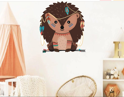 Woodland Animals Hedgehog Fox Wall Sticker Set WS-45249