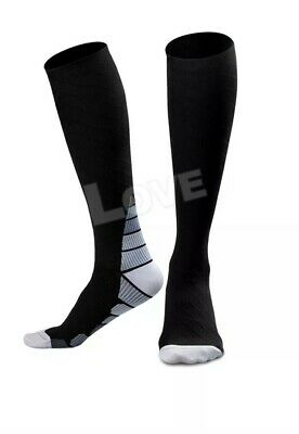 Pair Compression Socks Medical Travel Running Anti Fatigue Varicose Stockings AU