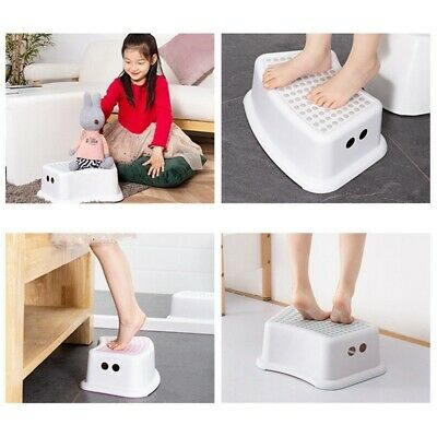 Non Slip Strong Utility Foot Stool Bathroom Kids Children Step Up Grip Lank sj6
