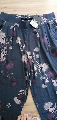 NEW with Tags NEXT Girls / Ladies Tapered Leg Stretchy Patterned Trousers, UK 8