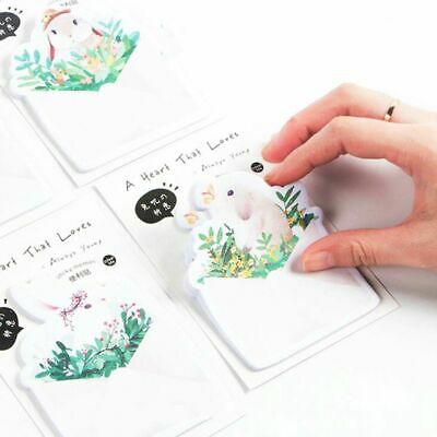 Supplies Cute Colorful Rabbit Shape Paster Stickers Sticky Notes Memo Pad