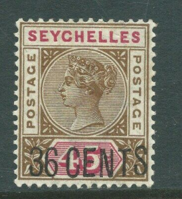 SEYCHELLES - 1896 36c on 45c BROWN & CARMINE  LMM