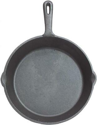 KitchenCraft Flat Round Induction-Safe Non Stick Cast Iron Griddle Pan, 24 cm