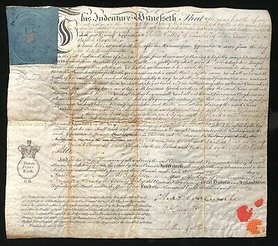 "Oxfordshire 1805 Apprenticeship Indenture to John Colley ""Taylor"" of Banbury"