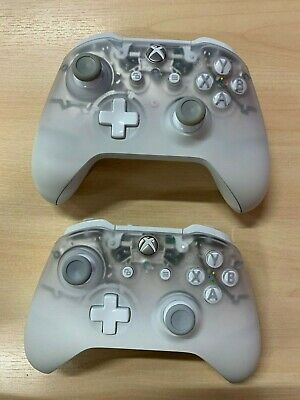2 x Microsoft Xbox One Official 2016 Phantom White Wireless Controllers *Faulty*