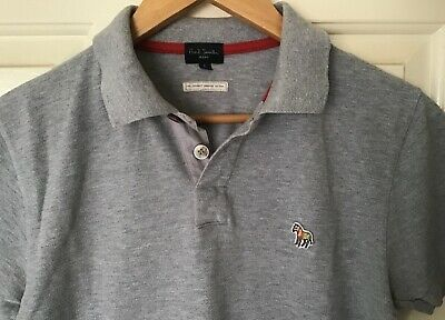 Paul Smith Mens Size Small Zebra Embroidered Organic Cotton Polo Shirt RRP$129