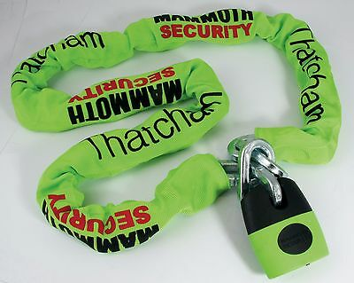 Bike-It Mammoth Motorcycle/Bike Thatcham Approved Lock And Chain - 1.2 Meter