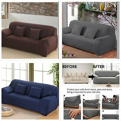 Sofa Covers Velvet Thick Plush Fit Stretch Protector Soft Couch Cover Grey Throw