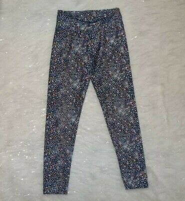 Girls Sz 12 Justice Bling Rhinestone Glitter Print Leggings Pants