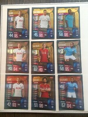 TOPPS - MATCH ATTAX CHAMPIONS & EUROPA LEAGUE 19/20 - 9 X Limited Edition Cards