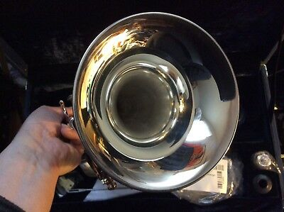 BACK TO SCHOOL NEW HORN B&S CHALLENGER 3137 SILVER Bb PRO TRUMPET & CASE OIL MPC