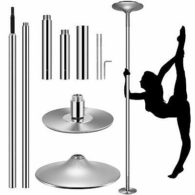 VIVOHOME 45mm Stainless Steel Static Dance Pole Dancing Spinning Home Fitness