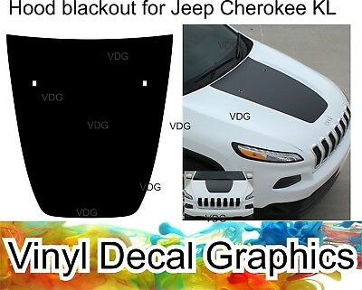 New Blackout kit for Jeep Cherokee 2013-2019 HOOD decal vinyl decal graphics set