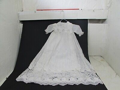 Antique Hand Embroidered 2 Part Christening Gown