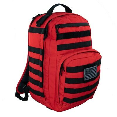 LINE2design First Aid Trauma Backpack - EMS Medical Tactical Molle Bag - Red