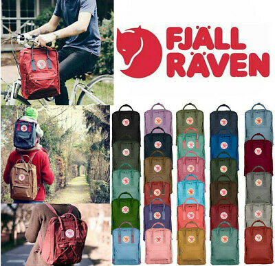 Fjallraven Re Kanken Mini Unisex Rucksack 20L/16L/7L Backpack Waterproof Sport