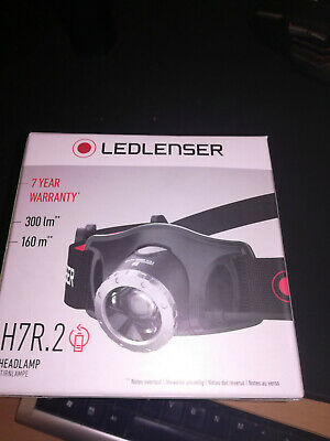 LED LENSER H7R.2 Rechargeable Headlamp 300 Lumens TORCH FLASHLIGHT NEW IN BOX