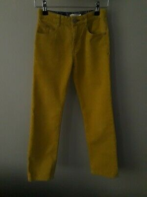 boden size 9 years unisex corded trousers yellow