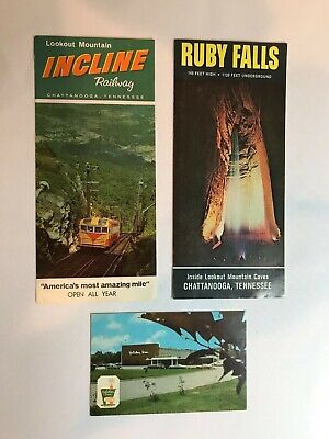 LOT - Vintage1960's Incline Railway / Ruby Falls / Holiday Inn Chattanooga, TN