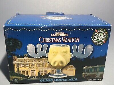 National Lampoon's Christmas Vacation Griswold Moose Mug 8 oz Clear NEW