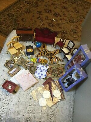 dolls house  bundle/ job lot,1/12th scale furniture and accessories