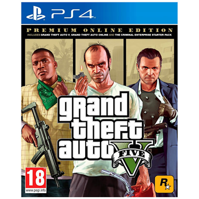 Take 2 PS4 GTA Grand Theft Auto 5 - Premium Online Edition EU