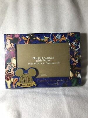 Disneyland 50th Anniversary Photo Album With Frame Disney Parks Mickey Mouse