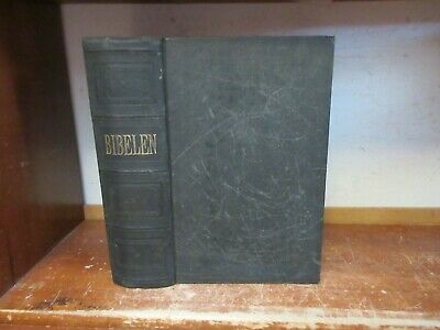 Antique HOLY BIBLE Book OLD / NEW TESTAMENT JESUS CHRISTIAN MINNEAPOLIS PRINTING