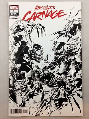 🕷 ABSOLUTE CARNAGE #1 (of 4, 2019) BLACK & WHITE B&W PARTY VARIANT COVER MARVEL