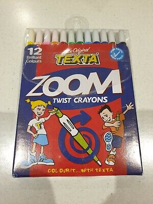 Texta Zoom Twist Crayons 12 Pack 49450