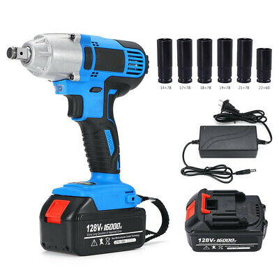 128V Brushless Impact Wrench Hammer Gun Drill Cordless Rechargeable Tools Set