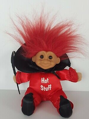Retro Vintage Devil Hot Stuff Red Haired Troll Doll