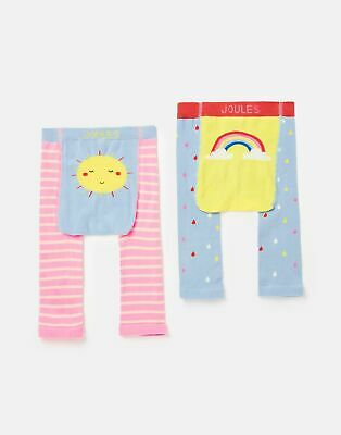 Joules  208584 2 Pack Character Leggings - PINK SUN AND RAINBOW