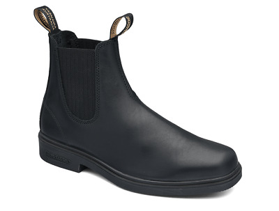 Clearance!! Blundstone Black leather elastic sided boot with square toe (063)