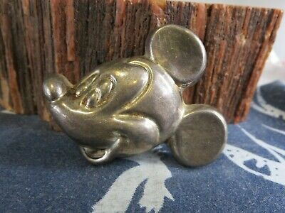 VTG Sterling Silver MEXICO TAXCO Solid Mickey Mouse Brooch Pin Pendant 17 g RP10