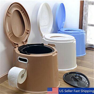 4 Colors Portable Toilet Seat Travel Camping Hiking Outdoor Indoor Potty Commode