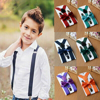 Fashion Baby Toddler Kids Boys Girls New Suspender and Bow Tie Set #AN