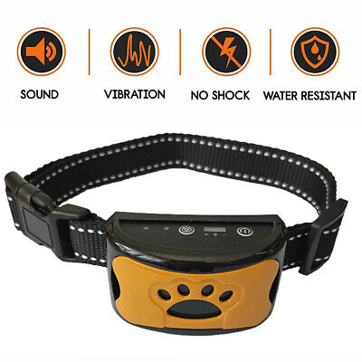 Rechargeable Anti Bark Collar Stop Dog Barking S/M/L Sound&Vibration Waterproof