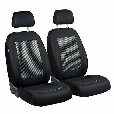 Black grey Triangles Seat covers for HONDA CRX Car seat cover FRONT