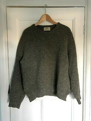 VINTAGE 80s Lord Jeff JUMPER sweater shetland wool MADE IN USA L crewneck