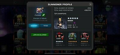 438,000 RATING! | Marvel Contest of Champions Account!