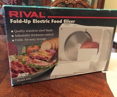 Rival Electric Slicer Deli Style Food Meat Model 1042 Fold Up Easy Storage NEW