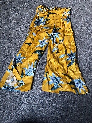 Girl River Island Yellow Flared Trousers Age 5/6 Years