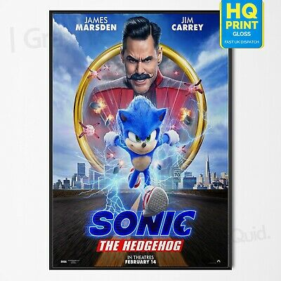 Sonic the Hedgehog Poster Jeff Fowler Movie 2020 Art Film Print #1 | A4 A3 A2 A1