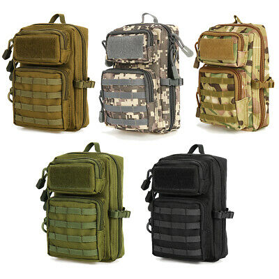 Tactical Molle Pouch Belt Waist Pack Bag Shoulder Utility Bag Phone Camp Hiking