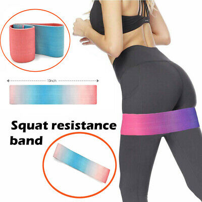Fabric Resistance Bands Heavy Duty Booty Bands  Glute Hip Circle Non Slip Belt