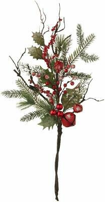 """F3902512 RAZ Imports 27/"""" Pine and Holly Swag Berry Christmas NEW"""