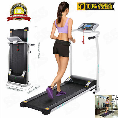 Ancheer Foldable Treadmill Electric Motorized Running Machine Cardio Home Gym~