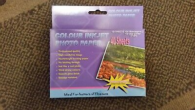 3 packs of glossy ink jet photo paper 6 x 4, 40 sheets a pack