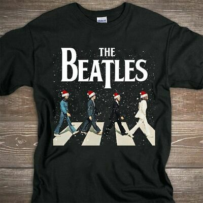 The Beatles Abbey Road Christmas Black T-shirt Best Gift For Birthday HOT